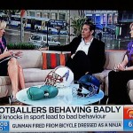 Discussing head injuries in football on morning TV-web